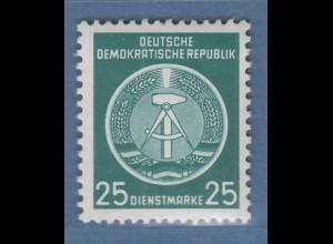 DDR 1954 Dienstmarke 25Pfg Mi.-Nr. 10x YI ** geprüft König BPP