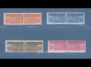 Italien 1955-56 Paketzustellungsmarken Wz.4 Satz 40-50-75-110 Mi.-Nr. 5-8 *