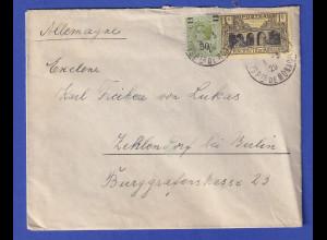 Monaco Brief 1929 gel. nach Berlin, MIF Mi.-Nr. 97 und 111