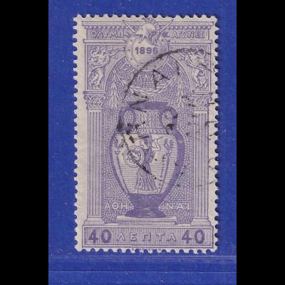Griechenland 1896 Olymp. Spiele - Amphore 40 L Mi.-Nr. 102 gestempelt