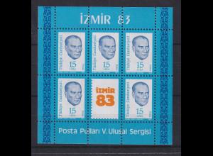 Türkei 1983 Nationale Briefmarkenausstellung Izmir Mi.-Nr. Block 23 postfrisch**