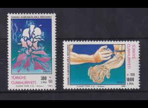 Türkei 1990 Kampf gegen Drogen-Missbrauch Mi.-Nr. 2898-2899 postfrisch**