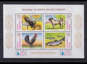 Türkei 1996 Briefmarkenausstellung - Nutztiere Mi.-Nr. 30 postfrisch**