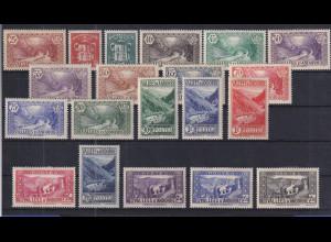 Andorra 1937/39 Freimarken Landschaften und Wappen Mi.-Nr. 56-74 ungebraucht *