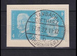 Deutsches Reich Hindenburg Kehrdruck K 9 sehr schön gestempelt TAMBACH-DIETHARZ