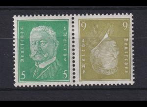 Deutsches Reich Ebert und Hindenburg Kehrdruck K 11 ungebraucht *