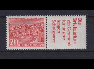 Berlin Bauten 20 Pf Reklame-Zusammendruck W 17 postfrisch **