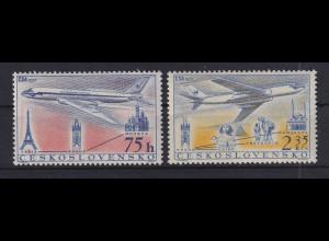Tschechoslowakei 1957 Flugzeuge Mi.-Nr. 1042-1043 postfrisch **