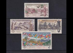 Tschechoslowakei 1961 Briefmarkenausstellung PRAGA Mi.-Nr. 1311-1314 **