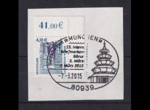 Bundesrepublik Sehenswürdigkeiten 4,10€ Mi.-Nr.2323 Eckrandstück OR mit Sonder-O