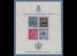 Rumänien 1939 Block 100, Geb. König Karl I. Mi.-Nr. Block 6 gestempelt.