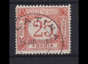 Rumänien 1898 Paketmarke 25 Bani Mi.-Nr. 3 gestempelt