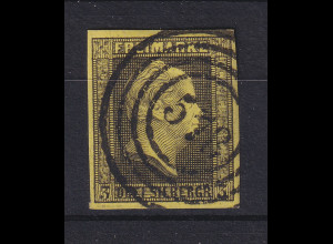 Preußen 3 Sgr Mi-Nr. 4a mit Ringnummernstempel 578 Hamburg