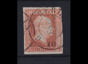 Preußen 1/2 Sgr / 6 Pf Mi-Nr. 1 mit Ortsstempel BERLIN