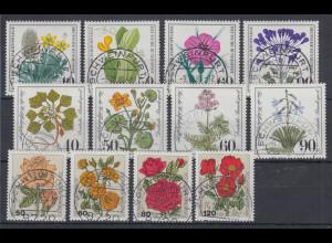 Bund Wohlfahrt 1980-1981-1982 Pflanzen / Rosen alle mit Luxus-Voll-O SCHWEINFURT