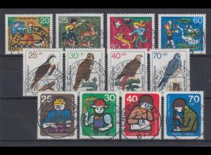 Bund Jugend 1972-1973-1974 Tierschutz, Vögel.. alle mit Luxus-Voll-O SCHWEINFURT