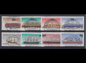 Bund Jugend 1975 und 1977 Lokomotiven, Schiffe alle mit Luxus-Voll-O SCHWEINFURT