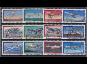 Bund Jugend 1978-1979-1980 Luftfahrt, Flugzeuge alle m. Luxus-Voll-O SCHWEINFURT