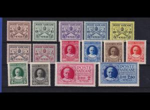 Vatikan 1929 Freimarken Papst Pius XI. Mi.-Nr. 1-15 postfrisch **
