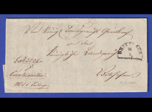 Bayern Dienstbrief mit Halbkreis-Stempel GRIESBACH 1861