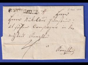Bayern Dienstbrief mit Rayon-Stempel SCHONGAU 1814