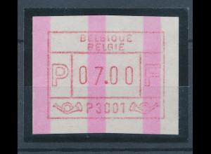 Belgien FRAMA-ATM P3001 mit ENDSTREIFEN, Wertstufe 07,00