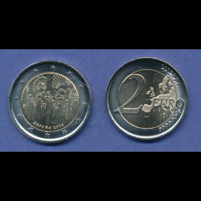 Spanien 2-Euro Sondermünze 2010 Altstadt von Cordoba bankfrisch