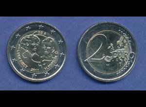 Belgien 2-Euro Sondermünze 2011 Internationaler Frauentag , bankfrisch aus Rolle