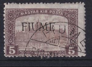 Fiume 1918 Freimarke 4 Kr Mi.-Nr. 24 I gestempelt