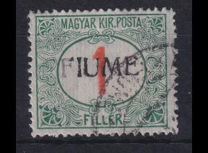 Fiume 1918 Portomarke 1 f Mi.-Nr. 4 II gestempelt