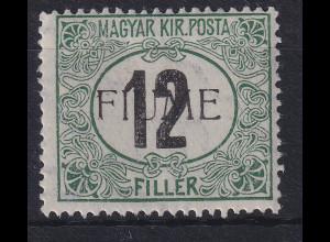 Fiume 1918 Portomarke 12 f Mi.-Nr. 2 II Z ungebraucht *