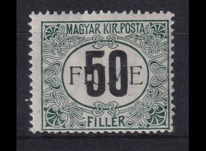 Fiume 1918 Portomarke 50 f Mi.-Nr. 3 II Z ungebraucht *