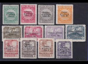 Fiume 1919/20 Freimarken Mi.-Nr. 74-84 II ungebraucht * (teils mit Mängeln)