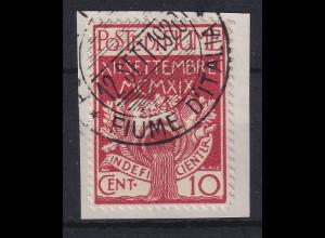 Fiume 1920 Militärpostmarke 10 C Mi.-Nr. 2 gestempelt