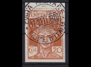 Fiume 1920 Militärpostmarke 20 C Mi.-Nr. 3 gestempelt