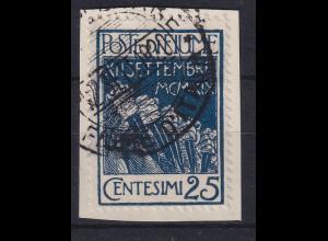 Fiume 1920 Militärpostmarke 25 C Mi.-Nr. 4 gestempelt