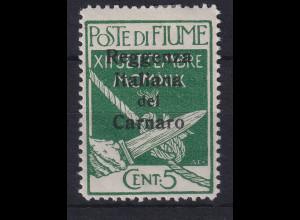 Fiume 1920 Besetzung der Carnaro-Inseln 5 C Mi.-Nr. 3 ungebraucht *