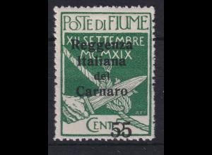 Fiume 1920 Besetzung der Carnaro-Inseln 55 C Mi.-Nr. 12 ungebraucht *