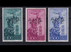 Triest Zone A 1948 Flugpostmarken Mi.-Nr. 47-49 postfrisch **