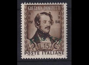 Triest Zone A 1948 100. Todestag Donizettis Mi.-Nr. 58 postfrisch **