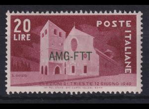 Triest Zone A 1949 Wahlen in Triest Mi.-Nr. 66 postfrisch **