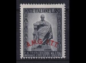 Triest Zone A 1949 Mazzini-Denkmal in Rom Mi.-Nr. 71 (leichte Gummitönung) **