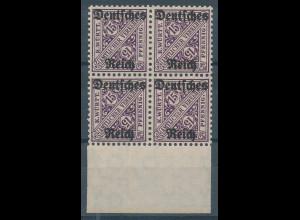 Deutsches Reich Dienstmarke Mi.-Nr. 59 Unterrand-Viererblock **