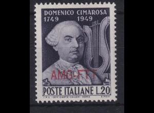 Triest Zone A 1949 200. Geburtstag von Cimarosa Mi.-Nr. 99 postfrisch **
