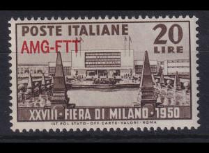 Triest Zone A 1950 28. Mailänder Messe Mi.-Nr. 100 postfrisch **