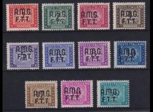 Triest Zone A 1947 Portomarken Mi.-Nr. 5-15 postfrisch **