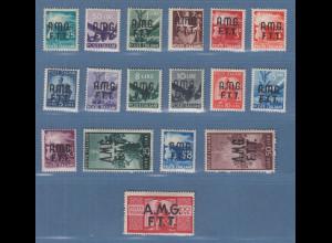 Triest Zone A 1947/48 Freimarken Mi.-Nr. 1-17 postfrisch ** ANSEHEN
