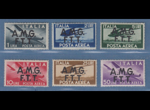 Triest Zone A 1947 Flugpostmarken Mi.-Nr. 18-23 postfrisch **