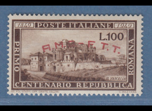 Triest Zone A 1949 100 Lire Republica Romana Mi.-Nr. 65 postfrisch **