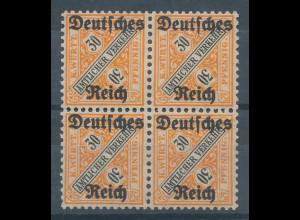 Deutsches Reich Dienstmarke Mi.-Nr. 61 Viererblock **